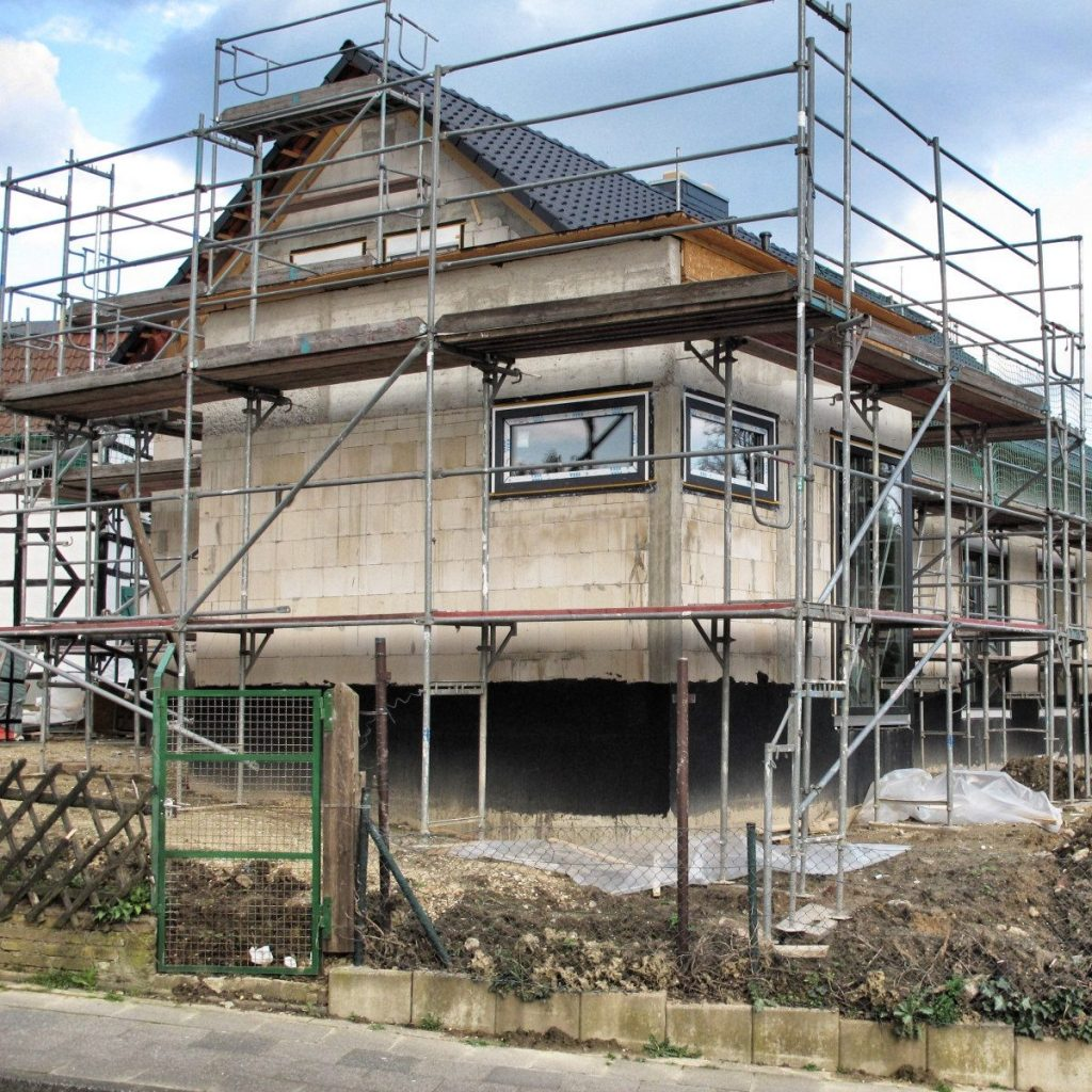 Baustellenfortschritt eines Neubaus von muellerarchitekt. in Solingen